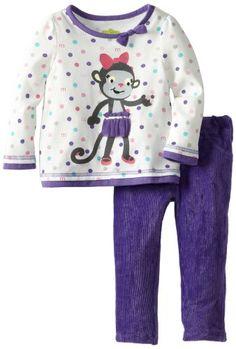Watch Me Grow! by Sesame Street Baby-Girls Infant 2 Piece Polka Dot Monkey Pant Set, Purple, 18 Months Watch Me Grow! by Sesame Street,http://www.amazon.com/dp/B00CE3J0T8/ref=cm_sw_r_pi_dp_1j6ltb115FC1WSJE