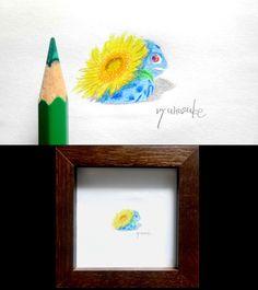 pokemon art for bugs.Pokemon - Bulbasaur has been coloring in watercolor pencils. 虫さんのためのポケモン・フシギダネの水彩色鉛筆ぬり絵です。 #pokemon #Bulbasaur #go #art #ポケモン #フシギダネ #アート