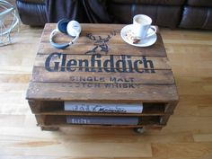 Recycled pallet coffee table by Semajun on Etsy