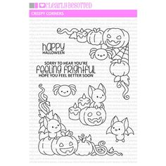Diy Halloween Toys, Happy Halloween, Simon Says Stamp, Clear Stamps, Doodle Art, Plushies, Creepy, Arts And Crafts, Doodles