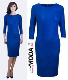 6148966063e8 Modré elegantné spoločenské šaty - trendymoda.sk