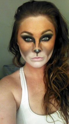 Lots of inspiration, diy & makeup tutorials and all accessories you need to create your own DIY Hunter & Fox Costume for Halloween. Makeup Fx, Fox Makeup, Animal Makeup, Hair Makeup, Raccoon Makeup, Zombie Makeup, Scary Makeup, Halloween Make Up, Halloween Face Makeup
