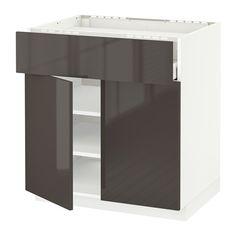 METOD / MAXIMERA Élt bas pr plaque/tiroir/tabl/2pts IKEA Amortisseurs intégrés, pour une fermeture du tiroir en douceur et en silence.