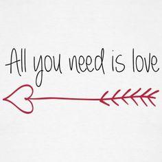 Blanco All you need is love Camisetas - Camiseta hombre