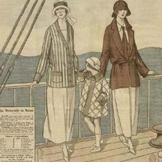 yachting, fashion for a boat  Art Deco