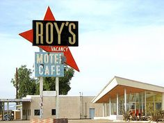 Route 66 Roy's Cafe,AMBOY CALIFORNIA-abandoned for several years this was once the BIG stop along Route 66 between LosAngeles and LasVegas