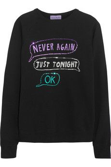 LULU & CO Never Again sequined cotton sweatshirt