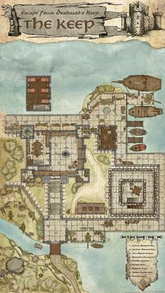Fantasy City Map, Fantasy World, Rpg Map, Building Map, Fantasy Heroes, Dungeons And Dragons Homebrew, Dungeon Maps, Tabletop Rpg, Environment Concept Art