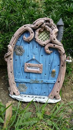 Check out this item in my Etsy shop https://www.etsy.com/listing/483687957/fairy-door-personalized-1221