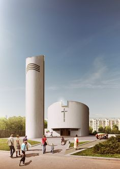 FlyingArchitecture Studio » Church competition in Brno