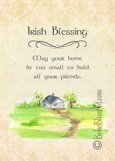 decorate shop Irish Blessing or Toast Art Print to Decorate Your Home or OfficeYour purchase is for an unframed art print with the Boho Bliss Art logo on Epson Ultra Premium Paper- Matt Irish Quotes, Irish Sayings, Irish Proverbs, Erin Go Bragh, Cottage Art, Wedding Toasts, Irish Blessing, Celtic Art, Luck Of The Irish
