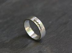 Silver Dots Ring  Simple Band For Men or Women  by TorchfireStudio, $52.00