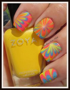 Southern Sister Polish: Water Marbling with Zoya Stunning Collection
