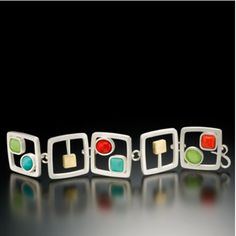Cubes and Cabs Bracelet