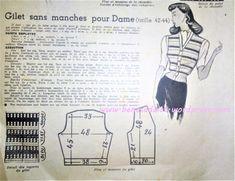 Revue Vintage « Je m'habille » de 1947 en intégralité avec Patrons de Couture , tricot …