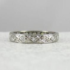 Vintage Diamond Eternity Ring. Geometric Marquise Shape by Addy, £385.00