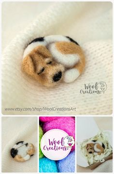 Brooch made of wool with a sleeping dog. Needle felted brooch #feltedanimal #brooch #feltbrooch #needlefelting #felt #felting #needlefeltedbrooch #wool #needlefeltedpin #womenjewelry #Girlsaccessories #wollcreations
