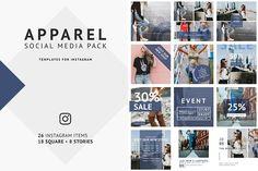 Apparel Social Media Pack by Artcoast Design Std. on @creativemarket