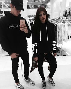 Streetwear Couple ♠ Visit my Instagram for more on my minimal outfits @edriancortes