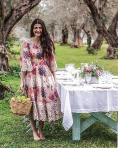 Summer romance  Lucilla @lucilla_grazia_it wearing a roses and violets dress from her and her mother Luisa's @luisa_beccaria Spring-Summer 2016 collection  #luisabeccaria_ss16  @lofficielparis  #luisabeccaria#ss16#summer16#rosesandviolets#alilacdawn#dreamydresses#dreamydress#flowerpower#romantic#trueromance
