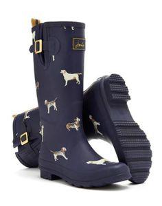Navy Dog Rain Wellies! Love!