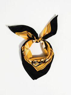 Chusta Z Nadrukiem Bohemian Coolness - Szaliki Superhero Logos, Look, Bohemian, Belts, Scarves, Notes, Summer Hairstyles, Black, Yellow