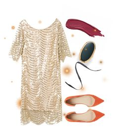"""""""A little different"""" by beetlescarab ❤ liked on Polyvore featuring Palm Beach Jewelry, ASOS, Cynthia Rowley and metallicdress"""