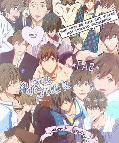 Makoto Tachibana. Free! collage