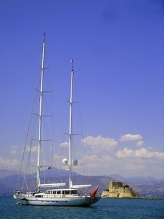 One of the nicest yachts to call on the port of #Nafplio this summer, leaving on August 23, 2013