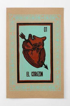 Tarot heart wall art from Hammerpress in heavy-duty, recycled chipboard.