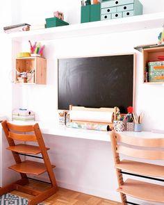 Aunque en la foto esté muy ordenadito el escritorio de mis niñas está siempre como la cueva de AlíBabá. Así que este mes me propongo ordenarlo y prepararlo posts que lo tengan comodísimo durante el curso. Hoy en Ebom empiezo con la inspiración! Link in bio. #ebomhome #ebomphotography #kidsroom #kidsdesk #workspaces #homedecor #interiorsdesign