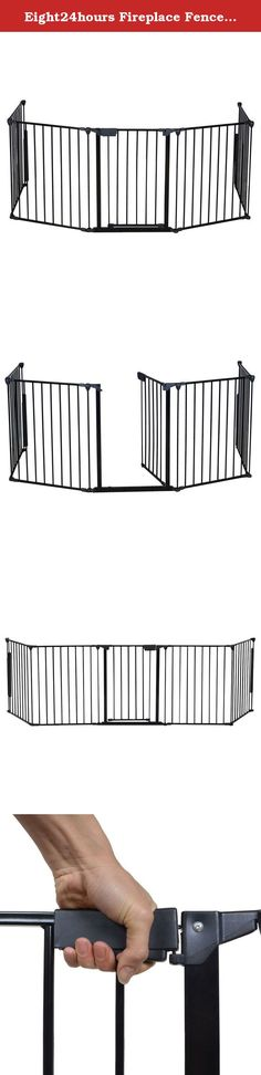 Eight24hours Fireplace Fence Baby Safety Fence Hearth Gate BBQ Metal Fire Gate Pet Dog Cat. Product Description: This is our Fireplace Fence Baby Safety Fence,which will provides a very safe environment for your child,Dog and Cat. It will prevent them into places they aren't allowed like a fireplace or any other non kids friendly area. What's more, it is easy to set up in non-frustration. Feature: Brand new and good quality. Safety for use around fireplaces, grills, wood burning stoves…