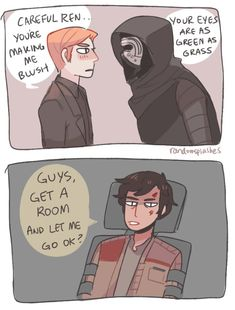 Kylo Ren and General Hux Star Wars Web Comic