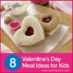 Valentine's Day #foods for kids! http://www.parentsociety.com/parenting/holidays/8-valentines-day-meal-ideas-for-kids/