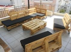 diy garden furniture tables chairs benches pallets