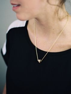 Cast Bronze Triangle necklace by Kate Miss