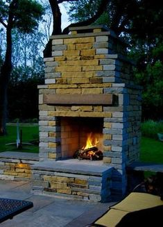 47 Relaxing Outdoor Fireplace Designs For Your Garden - Having a fireplace inside your domicile is a classy decision. It not only provides warmth to you and your family but also provides a rich outlook to t. Outdoor Spaces, Outdoor Living, Outdoor Decor, Outdoor Ideas, Outdoor Fireplace Designs, Outdoor Fireplaces, Stone Fireplaces, Fireplace Ideas, Outside Fireplace