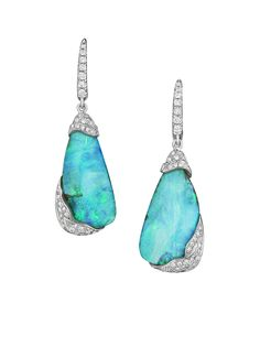 Mimi So ZoZo Boulder Opal and Diamond Earrings in white gold (US$23,000).