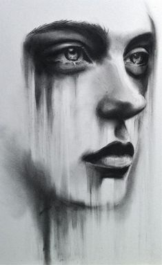 Supreme Portrait Drawing with Charcoal Ideas. Prodigious Portrait Drawing with Charcoal Ideas. Sad Drawings, Art Drawings Sketches, Drawing Faces, Amazing Drawings, Man Face Drawing, Simple Face Drawing, Sad Girl Drawing, Contour Drawings, People Drawings