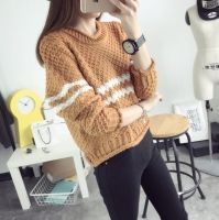 Cheapest Sweater Fashionable Korean College Wind Short Sweater Khaki