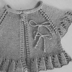 No photo description. - No photo description. – Knitting models is - Baby Sweater Knitting Pattern, Knit Baby Sweaters, Girls Sweaters, Baby Knitting Patterns, Baby Patterns, Baby Cardigan, Diy Crafts Dress, Crochet Summer Dresses, Kurti Embroidery Design