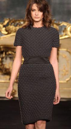 I like the bottom half, the chunky knit skirt.