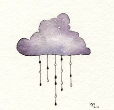 rain day water color painting