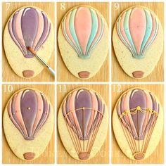 hot air balloon cookie tutorial