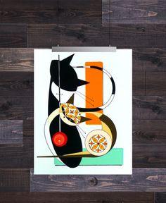 Letter B, Mid Century Modern Cat Alphabet, Giclee Print by Domini – Domcats Mid Century Modern Art, Letter B, Cat Drawing, Illustration Art, Illustrations, Cat Art, Giclee Print, Cat Lovers, Mid-century Modern