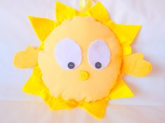 "Items similar to Yellow Sun ""Hello Sunshine"" Stuffed Plushie Hug on Etsy Feeling Under The Weather, Sending Hugs, Yellow Sun, Hello Sunshine, Say Hi, Friend Birthday, Plushies, Pikachu, Handmade Gifts"