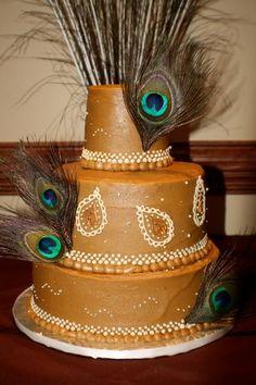 Peacock Wedding Cake   Cakes by Jyl: Peacock Wedding Cake