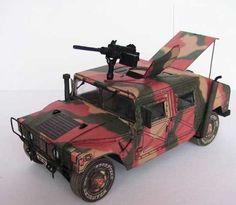 Humvee Ver.2 Free Vehicle Paper Model Download - http://www.papercraftsquare.com/humvee-ver-2-free-vehicle-paper-model-download.html#135, #Humvee, #VehiclePaperModel