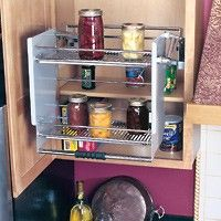 Pull down cabinet shelving - Pantry?