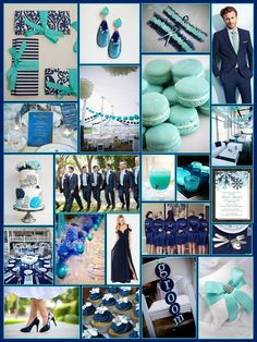 An English Rose, Luxury Lifestyle Weddings - Navy Blue and Aqua Wedding